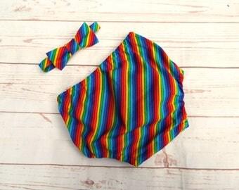 Cake Smash Outfit - Rainbow Cake Smash - Baby Cake Smash - Rainbow Bow Tie - Rainbow Baby Gift - Rainbow Birthday