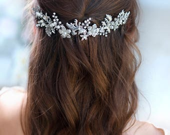 Bridal hair accessories Crystal Bridal headpiece Wedding hair piece Bridal hair vine Bridal hair piece Bridal Head Piece Wedding hair comb