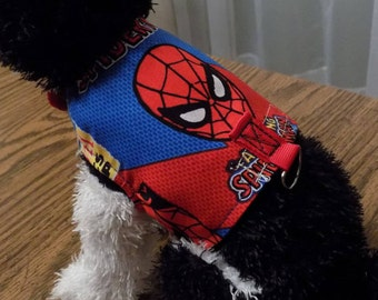 Dog Harness//Spiderman//Dog Clothing//Halloween Costumes for Dogs//Dog Costumes//Spiderman for Dogs//Dog Accessories