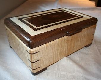 Wood Jewelry Box, Wooden Jewelry Box, Keepsake box, Jewelry Storage box,FIG-M