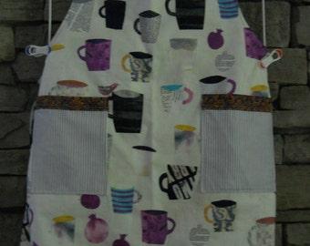 Coffee mug apron