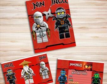 Lego Ninjago Invitation, Ninjago Invite, Lego Invitation, Invitation Ninjago, Ninjago Birthday, Ninjago Party, Ninjago Printable
