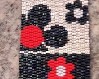 """Bracelet """"The Flowers"""" Peyote weaving"""