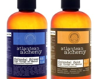 Colloidal Silver 8.5oz 60PPM AND Colloidal Gold 8.5oz 60PPM BUNDLE