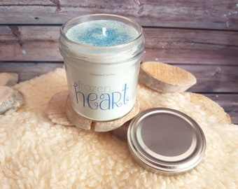Candles frozen Heart/Candle frozen Heart/5, 6oz/Bookish candle