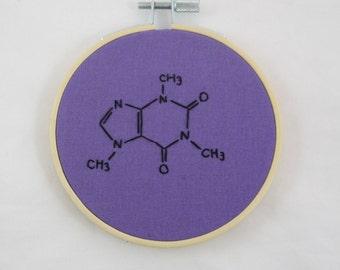 Purple Caffeine Molecule
