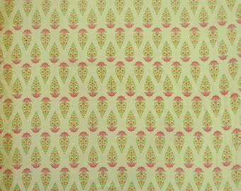 """Beige Fabric, Floral Print, Dressmaking Fabric, Upholstery Fabric, Indian Decor, 43"""" Inch Cotton Fabric By The Yard ZBC8756D"""