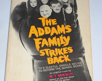 1965 SCARCE The Addams Family #2 Strikes Back TV tie-in series vintage paperback book by W.F. Miksch - Chas Addams