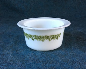 Vintage Pyrex Spring Blossom Butter Tub, Crazy Daisy Pyrex