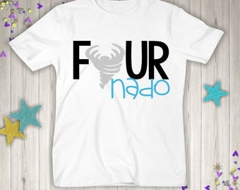 Four Nado Birthday - 4th Birthday Shirt - Fourth Birthday Boy - 4th Birthday Shirt - Four Year Old - 4th Birthday Gift- 4th Birthday Outfit