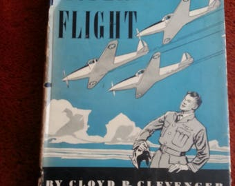 Aviation book,Flying Manual, Instructional book on flying, flying instruction, vintage aviation book, aviation, planes, vintage planes