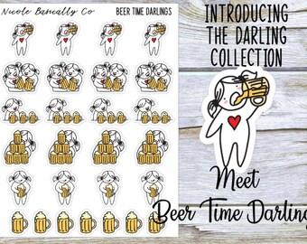 Beer Time Darlings Planner Stickers
