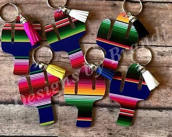 Cactus Serape keychain // Serape // Cactus keychain // keychain // serape keychain
