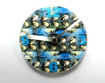 Mallard Ducks CD Clock, Duck Clock, Quirky Duck Gifts.