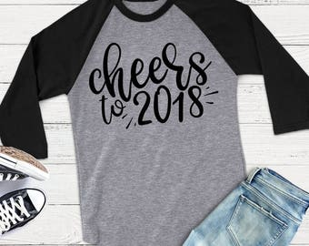 New Year SVG - Cheers to 2018 SVG - Happy New Year SVG - Files for Silhouette Studio/Cricut Design Space