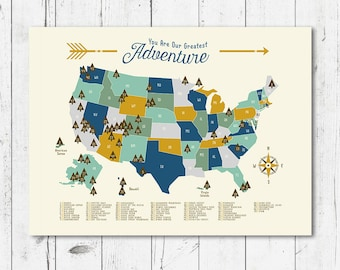 National Park Map Nursery you are my greatest adventure 4