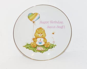 Care Bear Plate Birthday Bear, Happy Birthday Sweet Stuff - 1323