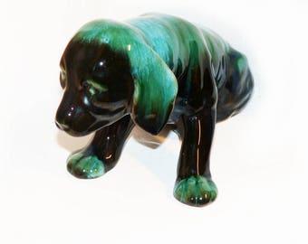 "Blue Mountain Pottery Huge Dog BMP, Drip Glaze Collingwood Ontario 14"" - 1897"