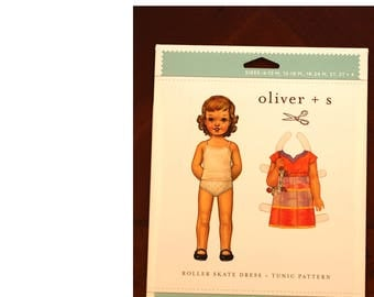 Roller Skate Dress + tunic sewing pattern size 6m to 4.