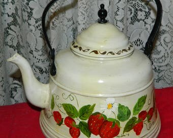 Hand Painted Tea Pot Etsy
