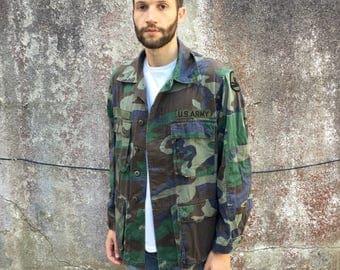 Vintage USA Army Camo Camouflage Jacket