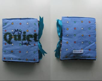 Quiet Book Interactive Toddlers Book Blue