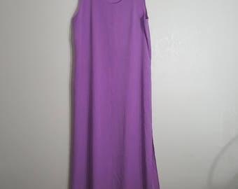 DOUBLE SLIT Maxi Dress Lilac / Pastel Dress / Purple Maxi Dress / Large Maxi Dress