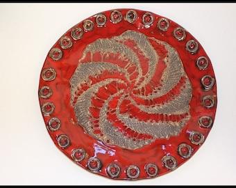 Handmade Bulgarian Decorative Plate Home Decor Ceramic Wall Hanging
