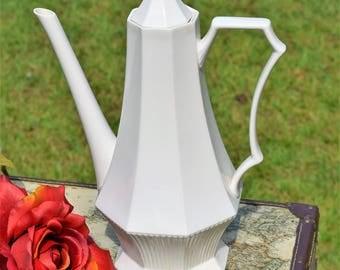 Vintage White Ironstone Teapot