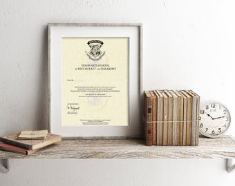 Harry Potter Personalized Hogwarts Acceptance Letter Art Print