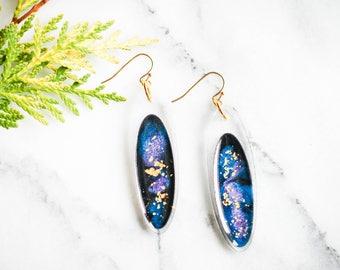 Galaxy Earrings, Space Earrings, Star Earrings, Galaxy Jewelry, Cosmos Earrings, Science Earrings, Science Jewelry, Geek Jewelry, Geek Gift