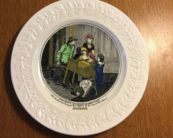 Vintage 1950s Decorative Plate by ADAMS in the Pattern Cries of London