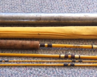 Wright & McGill Eagle Claw vintage fly fishing rod Pack it 7.5' circa 1970 in original case