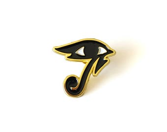 Pharah Eye of Horus Brass Enamel Pin