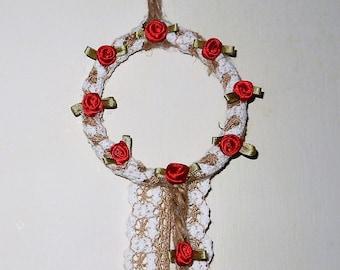 mini rose wreath