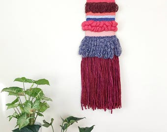 Woven Wall Hanging, Textile Wall Hanging, Colorful Wall Art, Yarn Wall Hanging, Weaving Wall Hanging, Jungalow Style, Woven Wall Decor