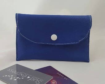 Royal Blue imitation leather wallet
