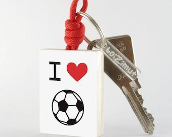 "Porte-Clé Sport ""I love Football"""