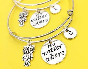 2,Distance Friend Gift,Long distance friendship bracelet,set of 2 bracelets,no matter where bracelet gift,personalized,Long Distance friends