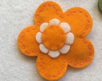 Orange colour big flower with snap clip