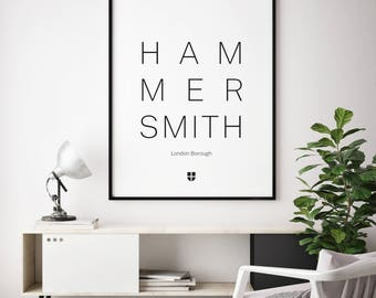 Hammersmith, London Borough | London Print | London Artwork | London Illustration | Architecture Print | City Print