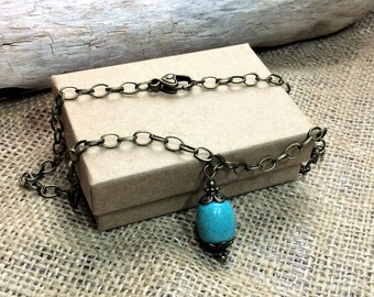 Aquamarine necklace, Sea foam green choker, custom lengths, stunning necklace, Secret Santa gift, Christmas gift, birthday gift, handmade
