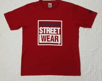 Vision Street Wear Skateboard Red T- Shirt Size M