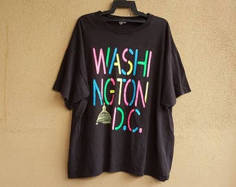 WASHINGTON D.C. Retro Colourful T- Shirt Size 2XL