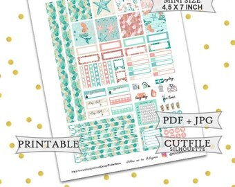 Be a mermaid planner stickers/Mini Happy Planner Stickers/Printable Planner Stickers/Printable weekly kit/Summer Planner Stickers/Mini HP