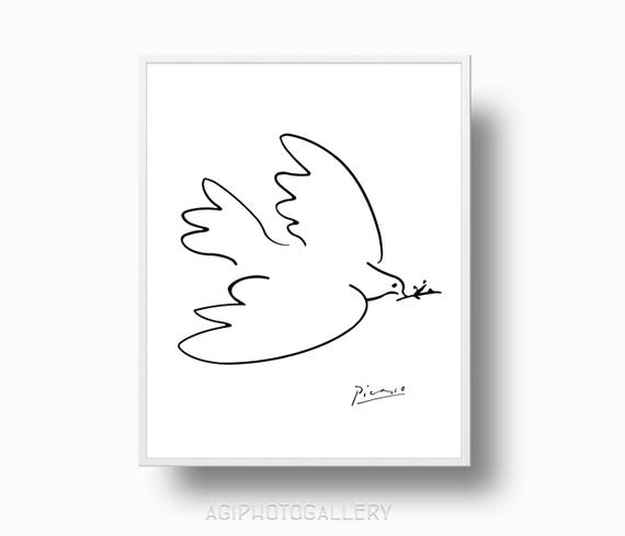 Picasso Print Peace Dove Picasso Sketches Instant Download