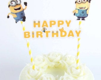 Minions Cake Topper  AB71