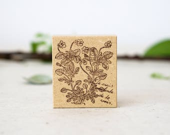NEW Flower & Letter Rubber Stamp