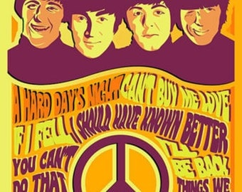 The Beatles Poster A3 or A4 Matt