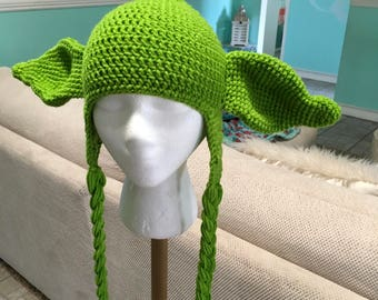 Crochet Yoda hat from Disney's Star Wars